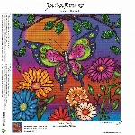 "JACAROU - PEINTURE DE DIAMANTS - PAPILLON (12"" X 12"")"